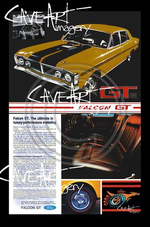Ford Falcon XY GT Wall Art Poster