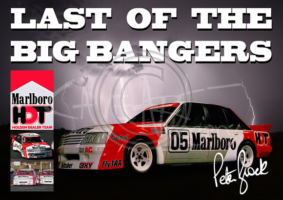 Peter Brock Last Of The Big Bangers VK Bathurst Racer